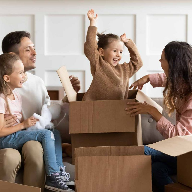 déménagement d'une famille à Brossard